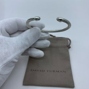 David Yurman Pave Diamond End Tips 5mm Bracelet